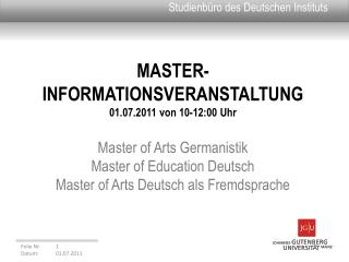 Studienb�ro des Deutschen Instituts