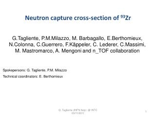 Neutron capture  cross- section of  93 Zr