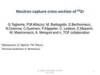 Neutron capture  cross- section of  93 Zr