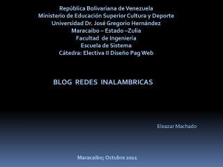 Rep�blica Bolivariana de Venezuela  Ministerio de Educaci�n Superior Cultura y Deporte