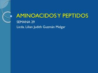 AMINOACIDOS Y PEPTIDOS