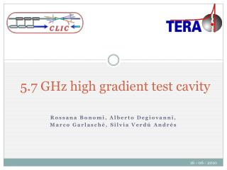 5.7 GHz high gradient test cavity