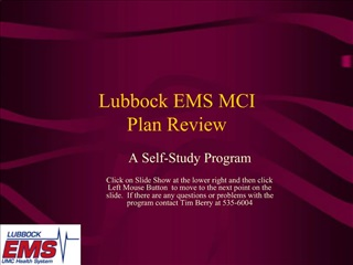 Lubbock EMS MCI  Plan Review