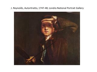 J. Reynolds, Autoritratto, 1747-48, Londra National  Portrait  Gallery