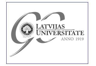 L atvijas Universitāte  —   67 . konference , 2009. g. februārī