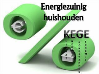 Energiezuinig  huishouden