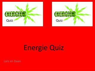 Energie Quiz