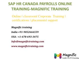 sap hr canada payrolls online training