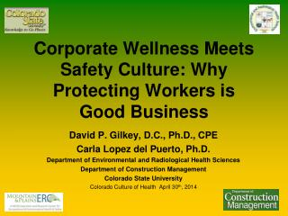 Corporate Wellness Meets Safety Culture: Why Protecting Workers is  Good  Business