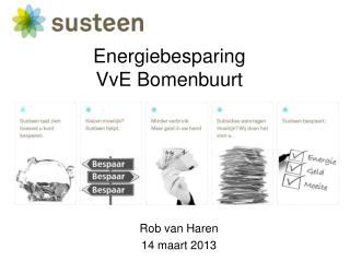 Energiebesparing VvE  Bomenbuurt