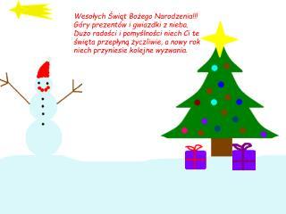 Wesołych Świąt Bożego Narodzenia!!! Góry prezentów i gwiazdki z nieba.