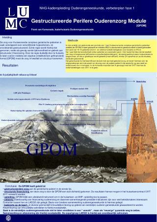 Gestructureerde Perifere Ouderenzorg Module                            [GPOM]