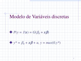 Modelo  de  Variáveis discretas
