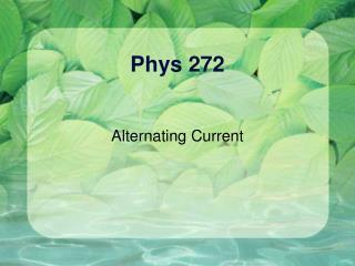 Phys 272