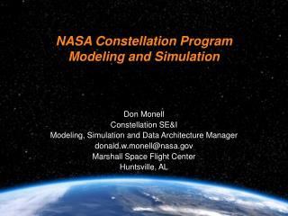 NASA Constellation Program Modeling and Simulation