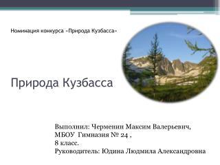 Номинация конкурса «Природа Кузбасса» Природа Кузбасса