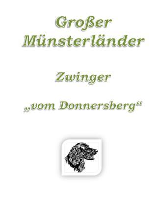 """Großer Münsterländer Zwinger """"vom  Donnersberg """""""