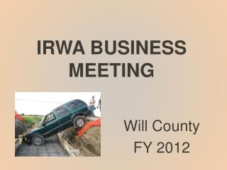 IRWA BUSINESS MEETING