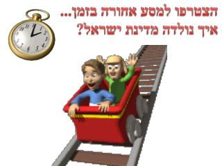 הצטרפו למסע אחורה בזמן... איך נולדה מדינת ישראל?