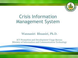 Crisis Information Management System