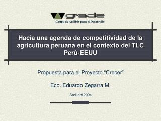 Hacia una agenda de competitividad de la agricultura peruana en el contexto del TLC Perú-EEUU