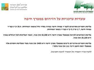 עובדות עדכניות על הזיהום במפרץ חיפה