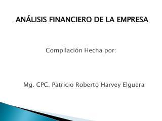AN�LISIS FINANCIERO DE LA EMPRESA
