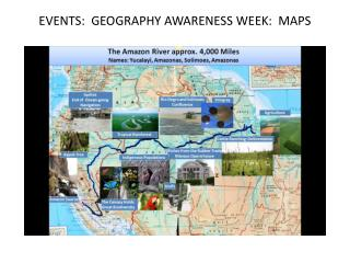EVENTS:  GEOGRAPHY AWARENESS WEEK:  MAPS