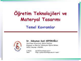 gretim Teknolojileri ve Materyal Tasarimi  Temel Kavramlar
