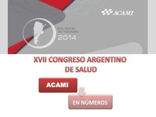 XVII  CONGRESO ARGENTINO  DE SALUD