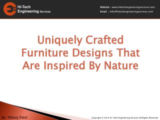 Fabulous Crafted Furniture Designs That Are Inspired By Natu