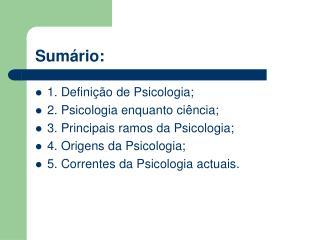 Sum rio: