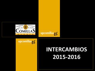 INTERCAMBIOS 2015-2016