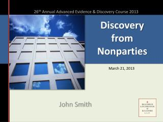 Discovery  from Nonparties