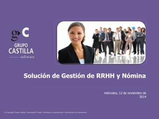 Solución de Gestión de RRHH y Nómina