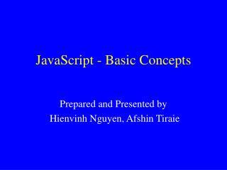 JavaScript - Basic Concepts