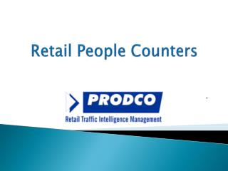Retail People Counters - www.prodcotech.com