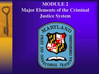 MODULE 2 Major Elements of the Criminal Justice System