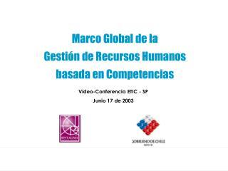 Marco Global de la              Gesti�n de Recursos Humanos                 basada en Competencias