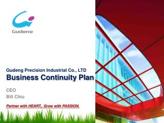 Gudeng  Precision Industrial Co.,  LTD Business Continuity Plan