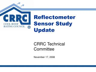 Reflectometer Sensor Study Update