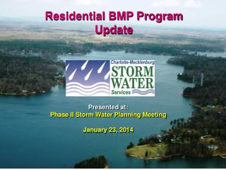 Presented  at: Phase II Storm Water Planning Meeting January 23, 2014