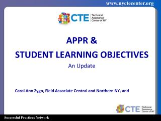 APPR & STUDENT LEARNING OBJECTIVES  An Update