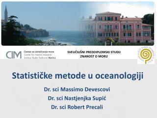 Statističke metode u oceanologiji