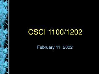 CSCI 1100/1202
