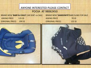 ANYONE INTERESTED PLEASE CONTACT POOJA   AT  98062450
