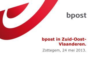 bpost  in  Zuid - Oost - Vlaanderen .