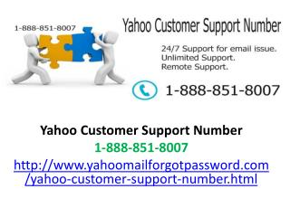 yahoo mail technical support number 1-888-851-8007