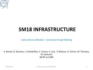 SM18 INFRASTRUCTURE