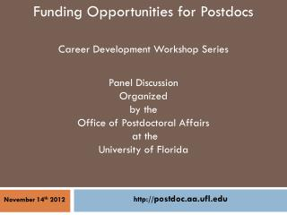 Funding Opportunities for Postdocs